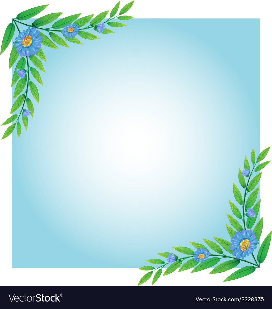A template with green and blue borders vector | Price: 1 Credit (USD $1)