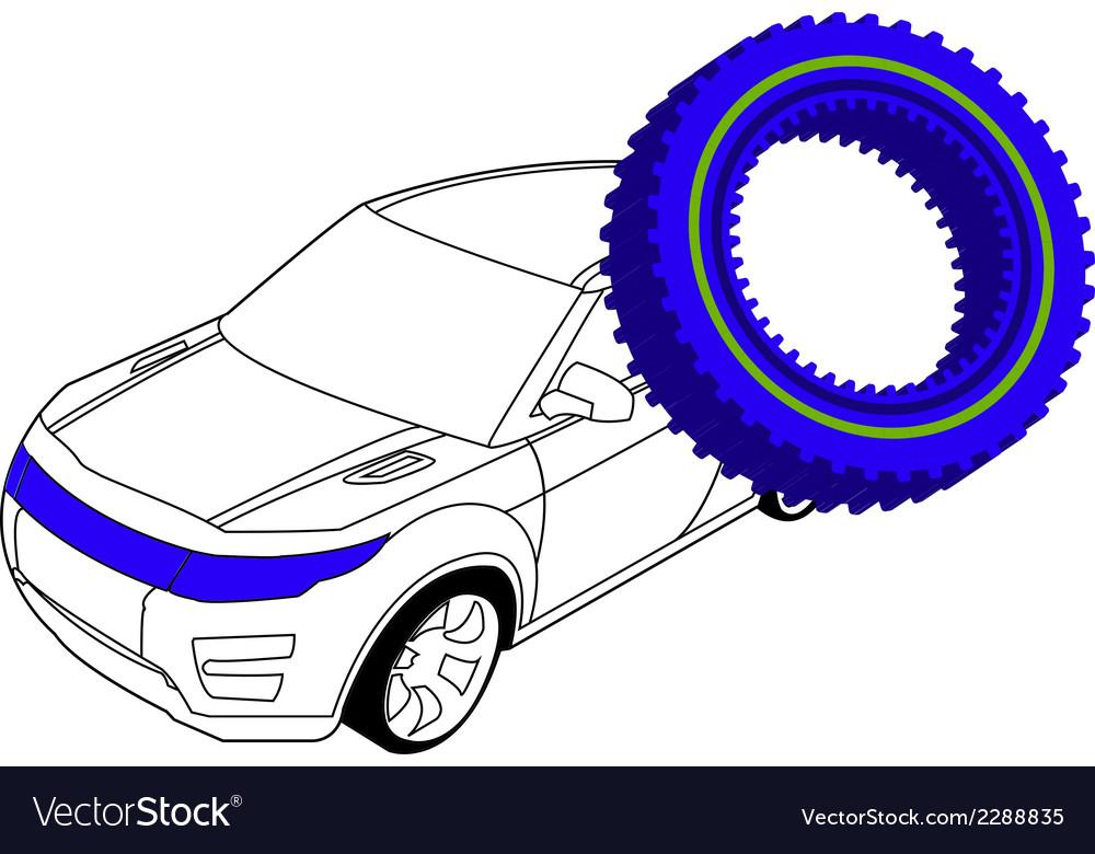 Auto gear 2 vector | Price: 1 Credit (USD $1)