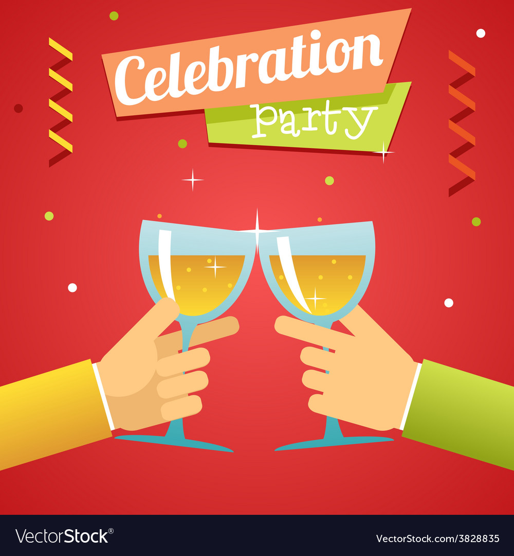 Celebration success prosperity invitation vector | Price: 1 Credit (USD $1)