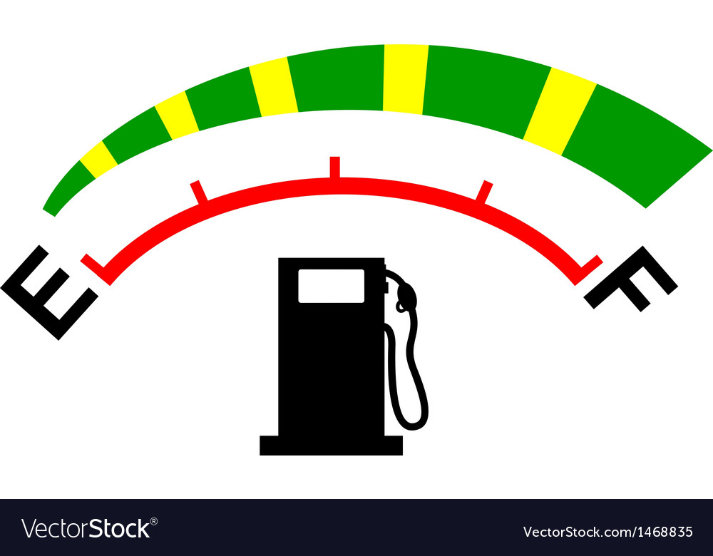 Fuel gage meter vector | Price: 1 Credit (USD $1)