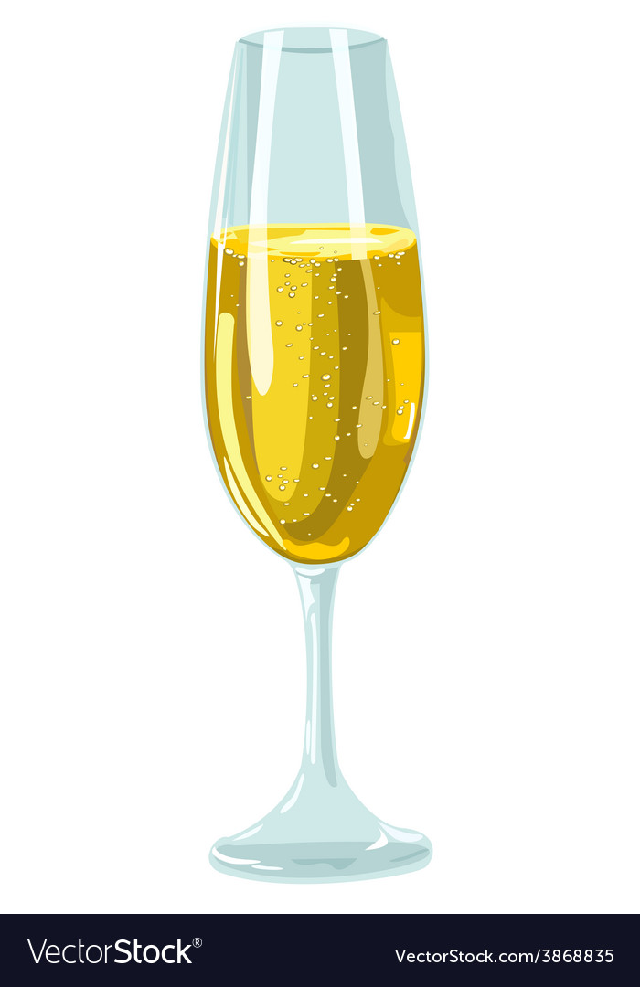 Glass with champagne vector | Price: 1 Credit (USD $1)
