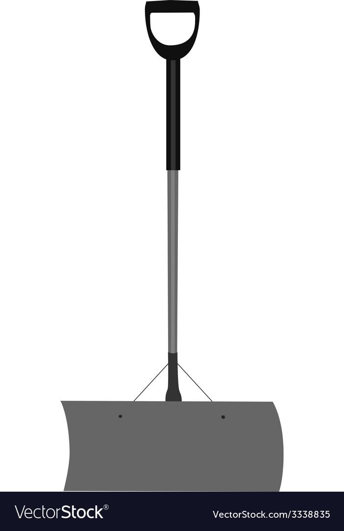 Grey snow shovel vector | Price: 1 Credit (USD $1)