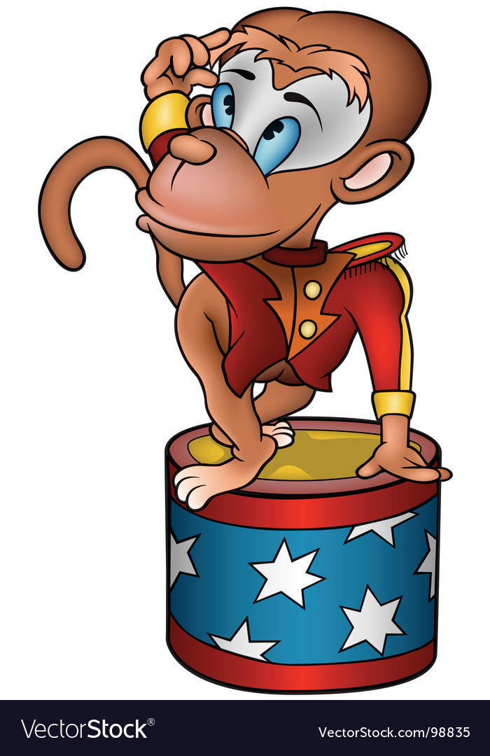 Monkey circus performer vector | Price: 1 Credit (USD $1)