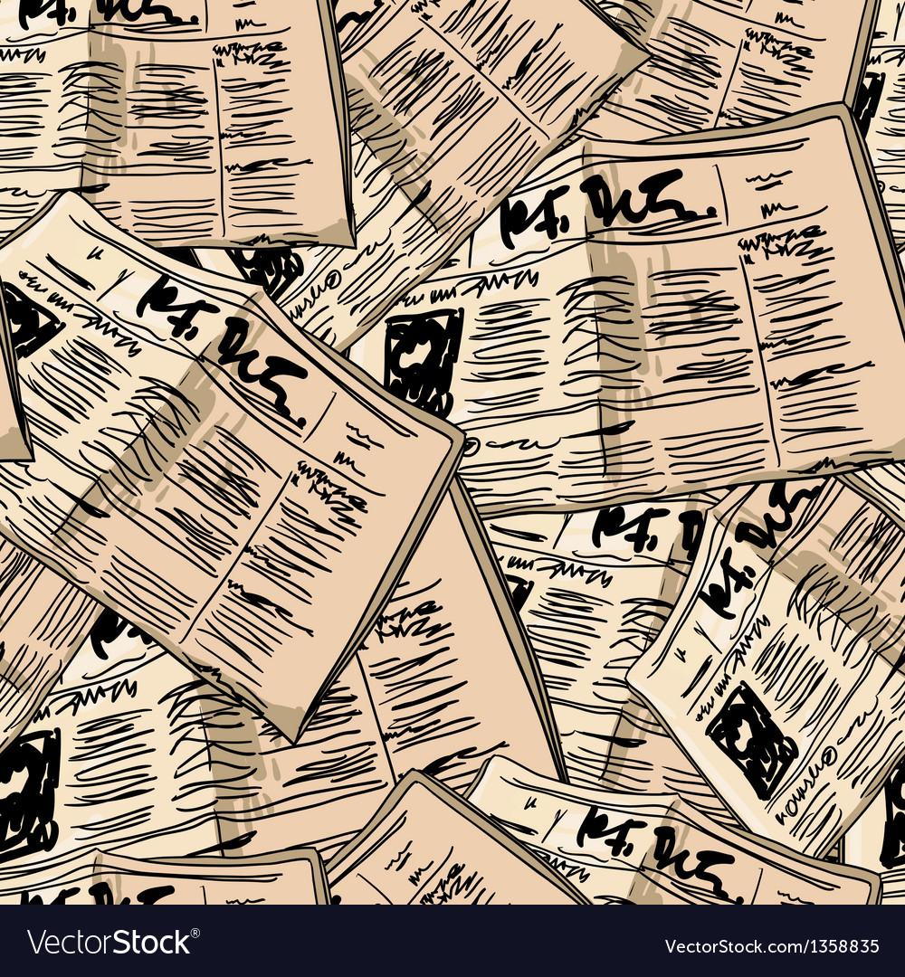 Newspaper vintage seamless background vector | Price: 1 Credit (USD $1)