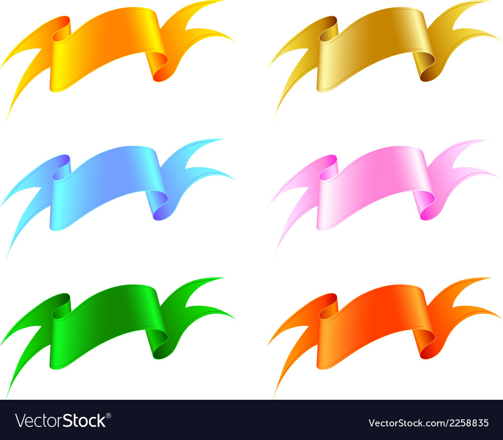 Silk ribbon set vector | Price: 1 Credit (USD $1)