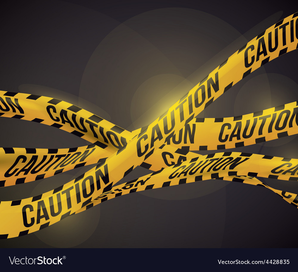 Yellow tape design vector | Price: 1 Credit (USD $1)