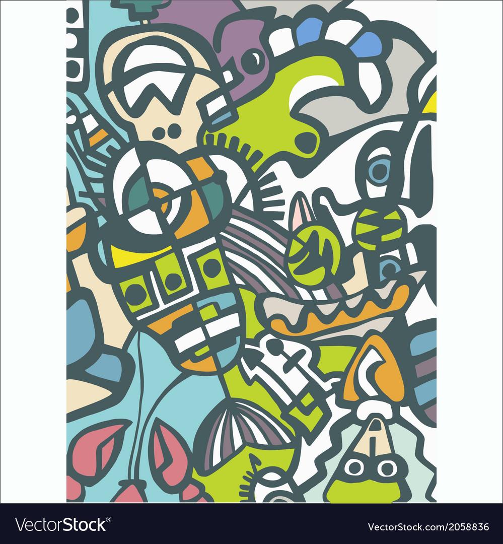 Abstract mosaic vector | Price: 1 Credit (USD $1)