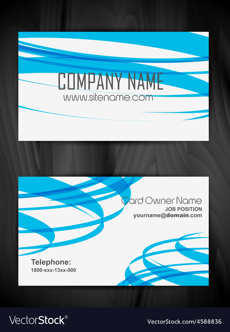 Attractive business card design vector | Price: 1 Credit (USD $1)