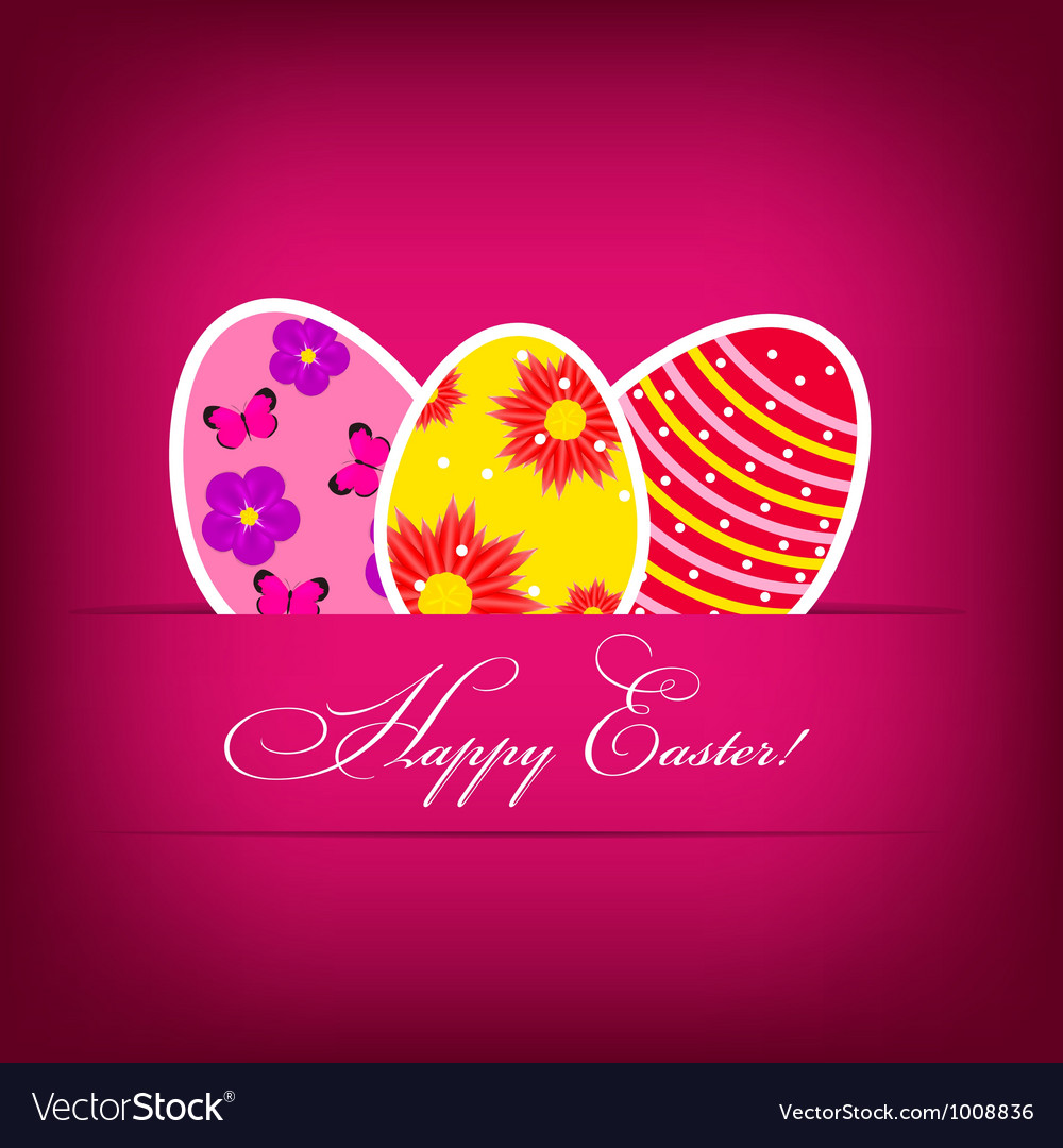 Background with easter eggs vector | Price: 1 Credit (USD $1)