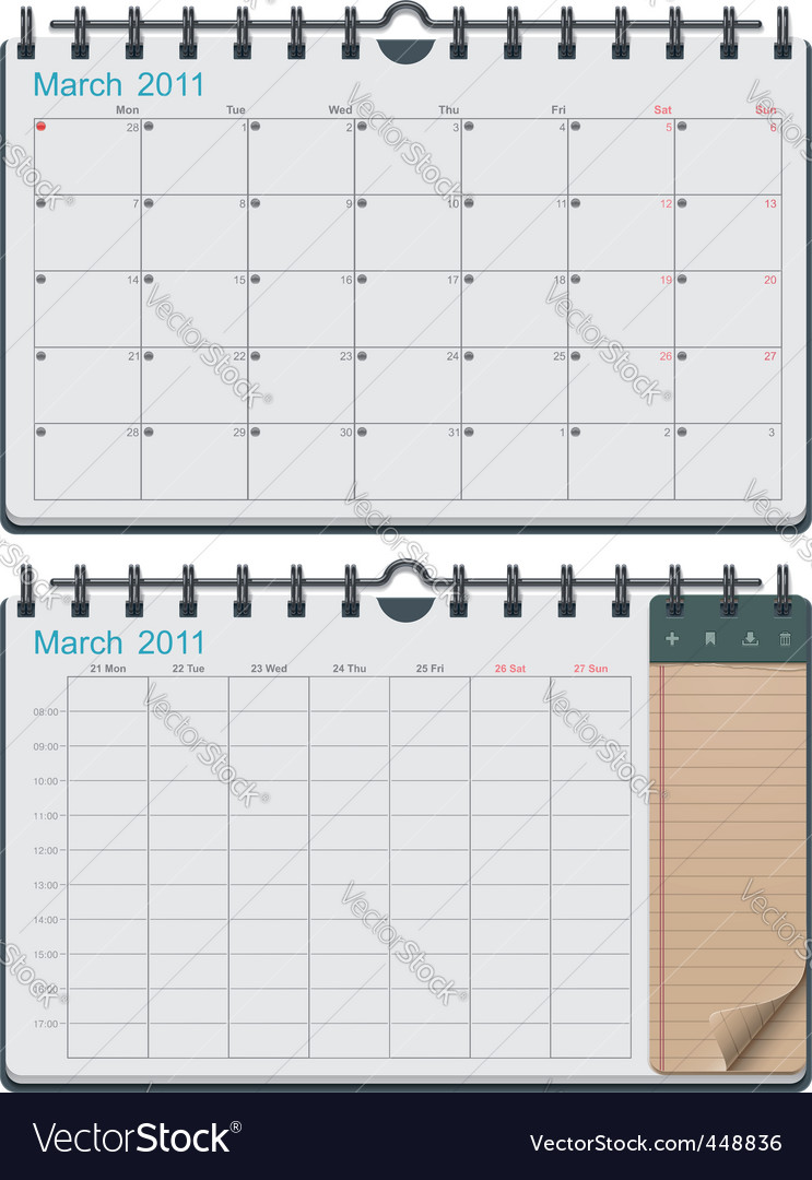 calendar template vector | Price: 1 Credit (USD $1)