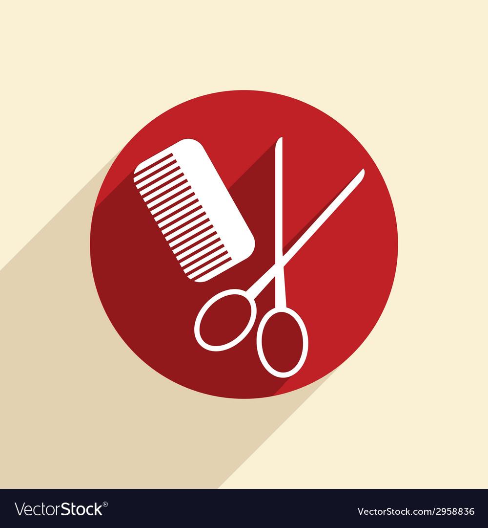 Comb scissors barbershop vector | Price: 1 Credit (USD $1)