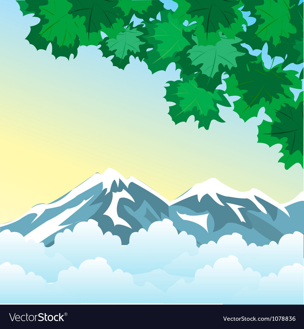 High in mountain vector | Price: 1 Credit (USD $1)