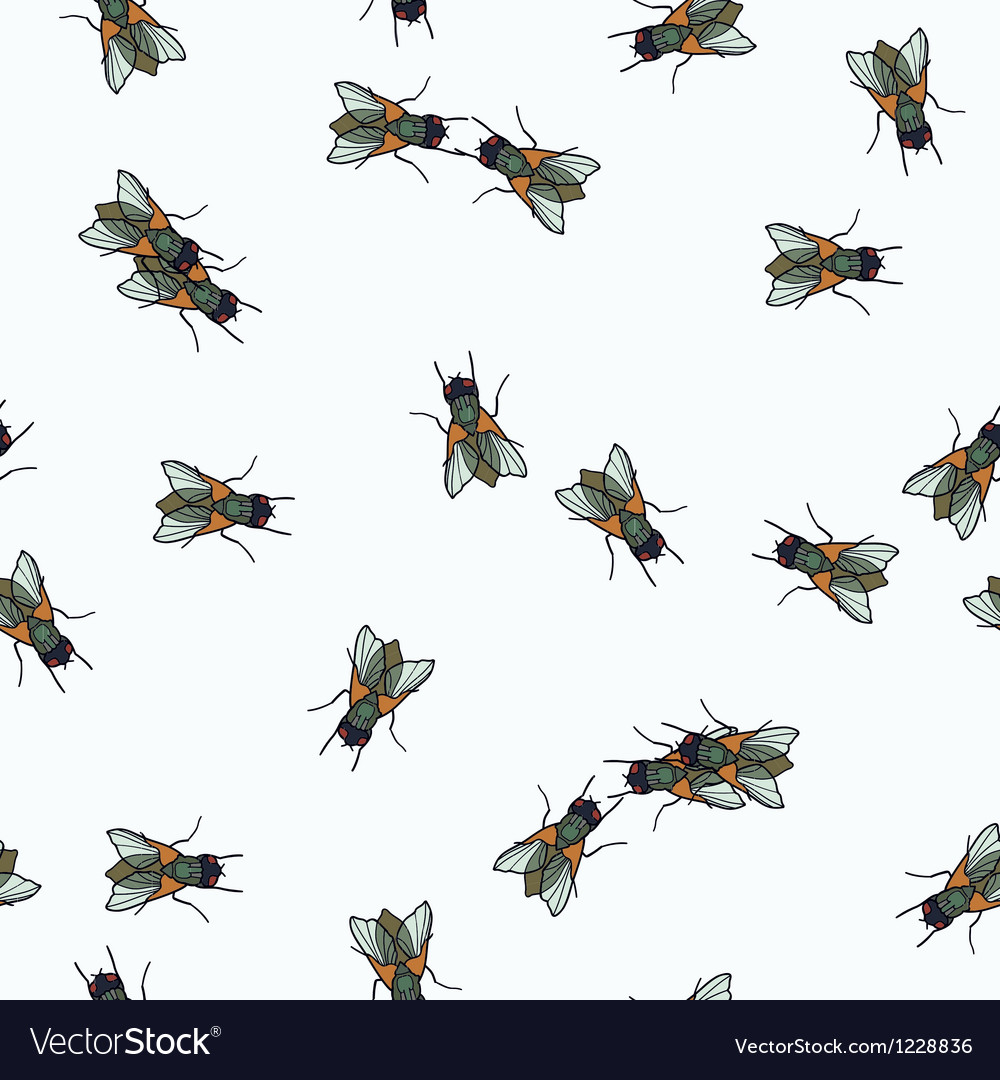 Humor seamless pattern with fly vector | Price: 1 Credit (USD $1)