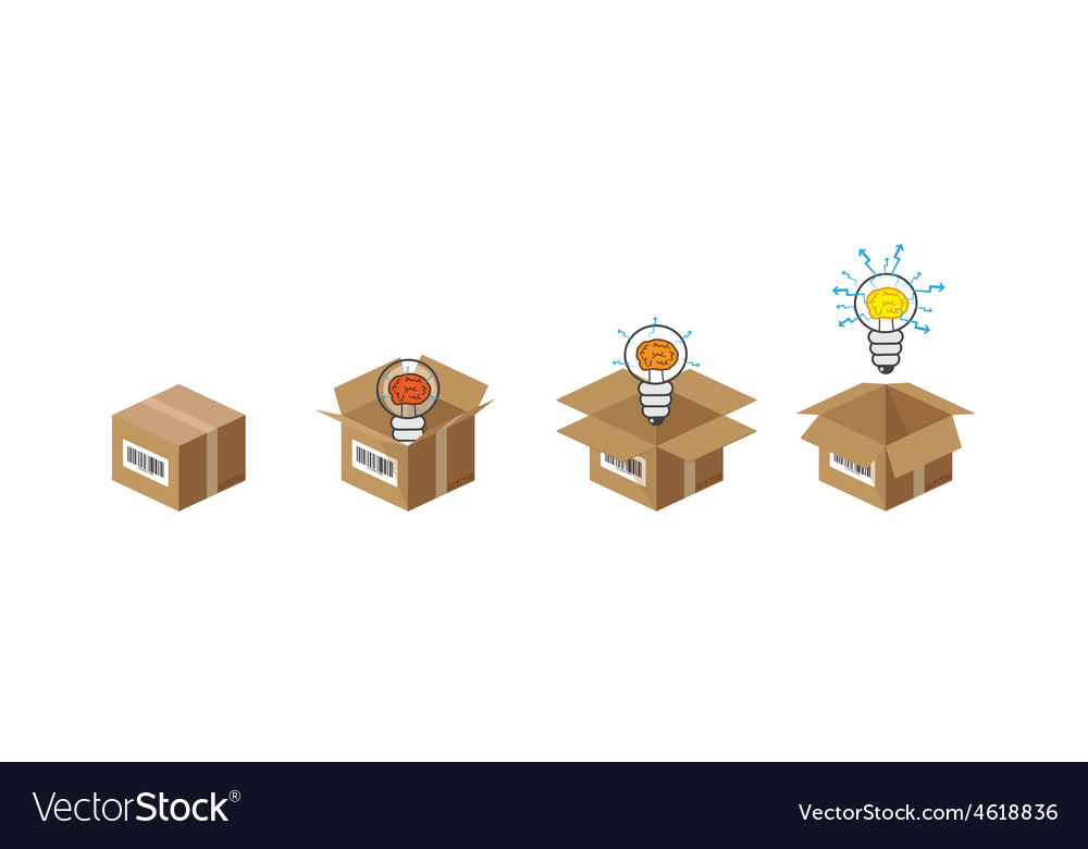 Lightbulb in the box vector | Price: 1 Credit (USD $1)