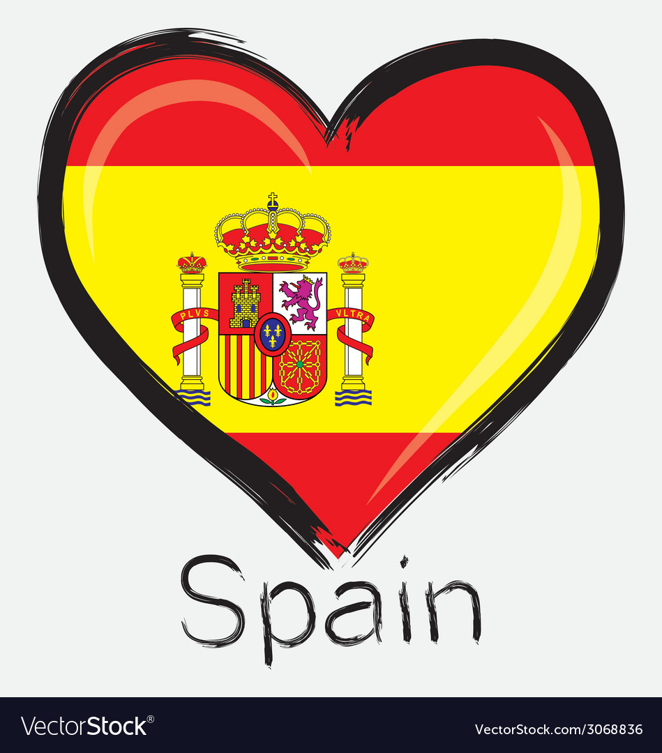 Love spain flag vector | Price: 1 Credit (USD $1)