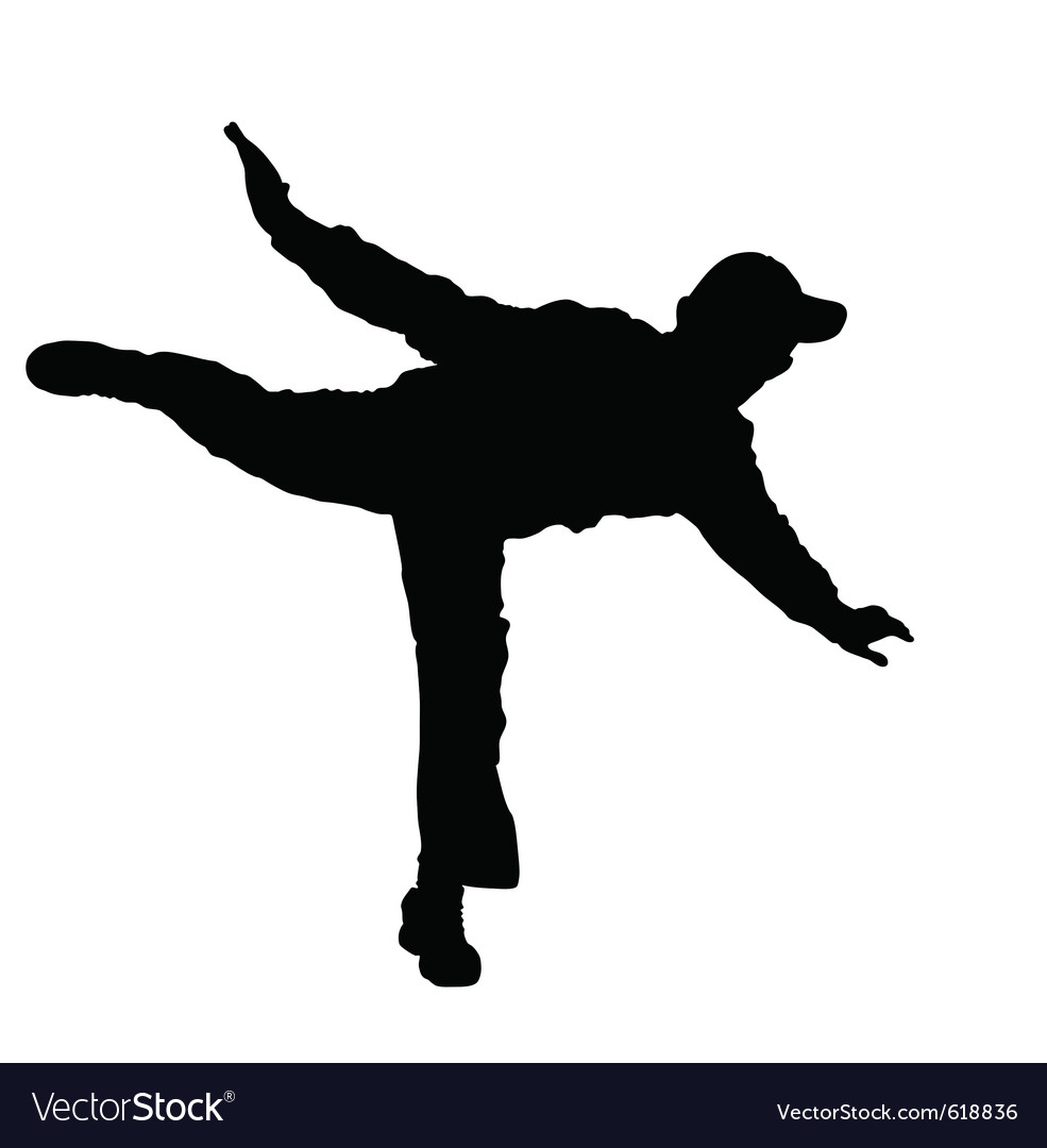 Man balancing on one foot vector | Price: 1 Credit (USD $1)