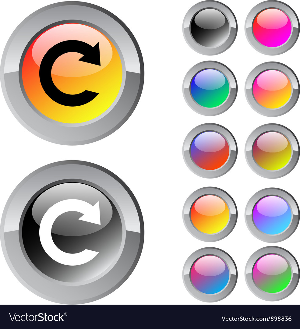 Reload multicolor round button vector | Price: 1 Credit (USD $1)