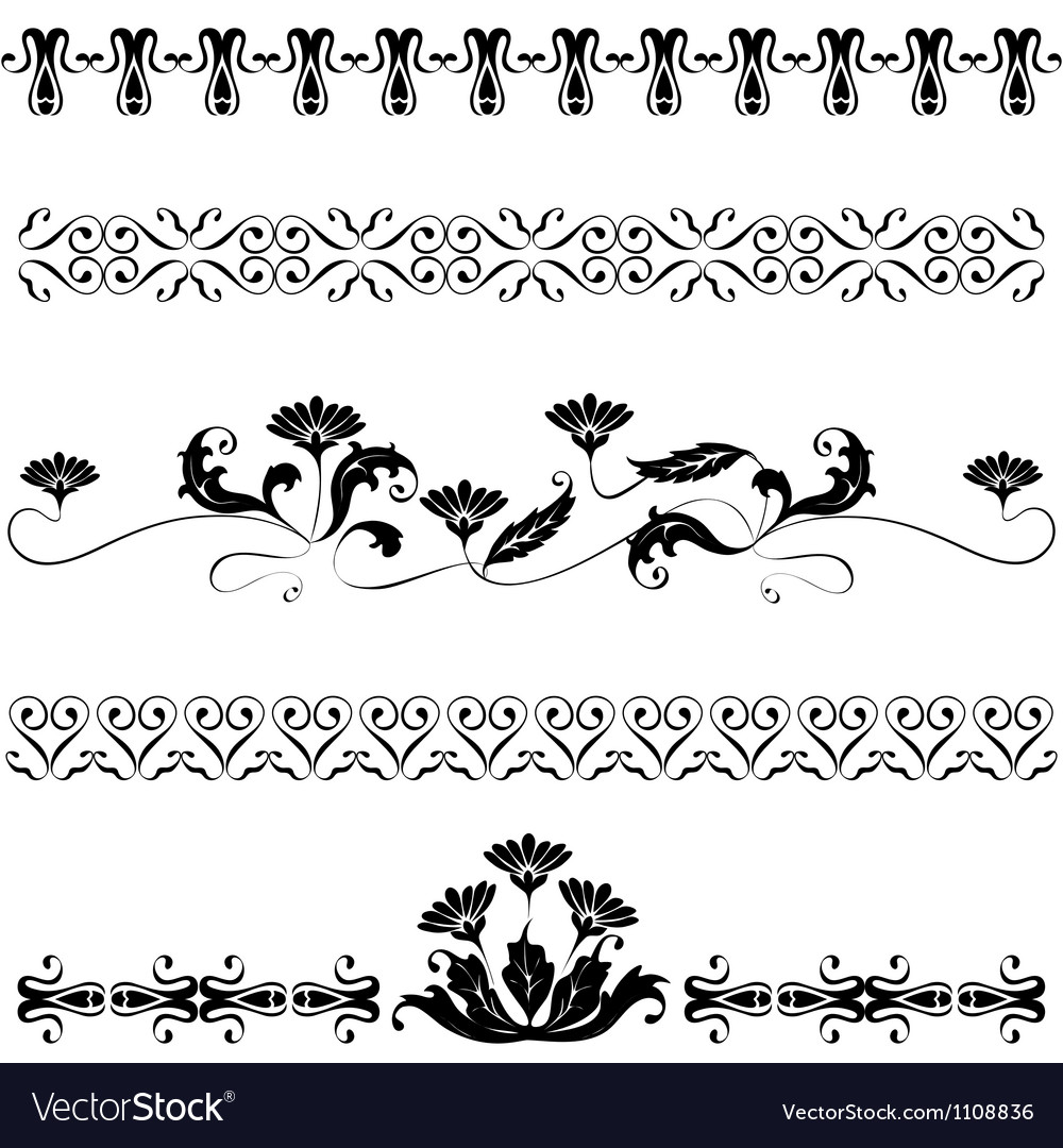 Set elements for design flowers vector | Price: 1 Credit (USD $1)