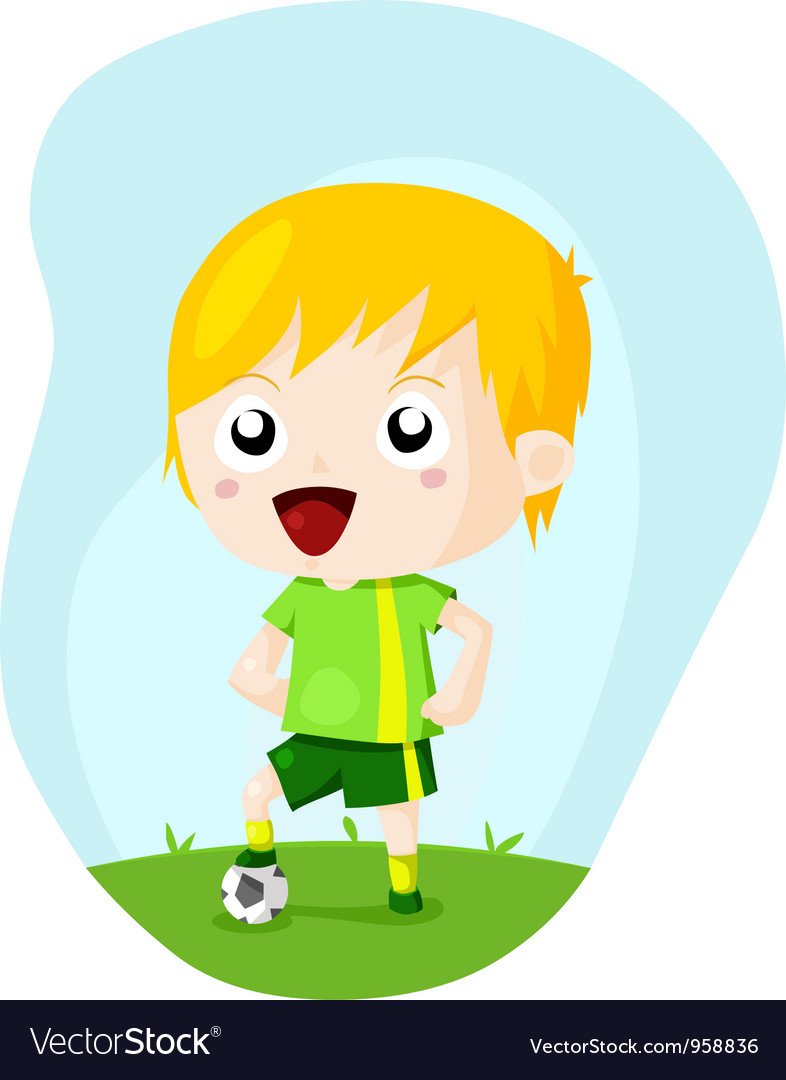 Soccer kid vector | Price: 3 Credit (USD $3)