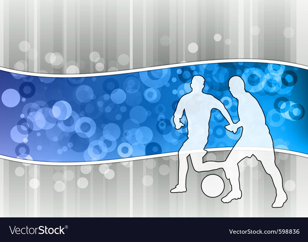 White soccer players on the blue wave vector   Price: 1 Credit (USD $1)