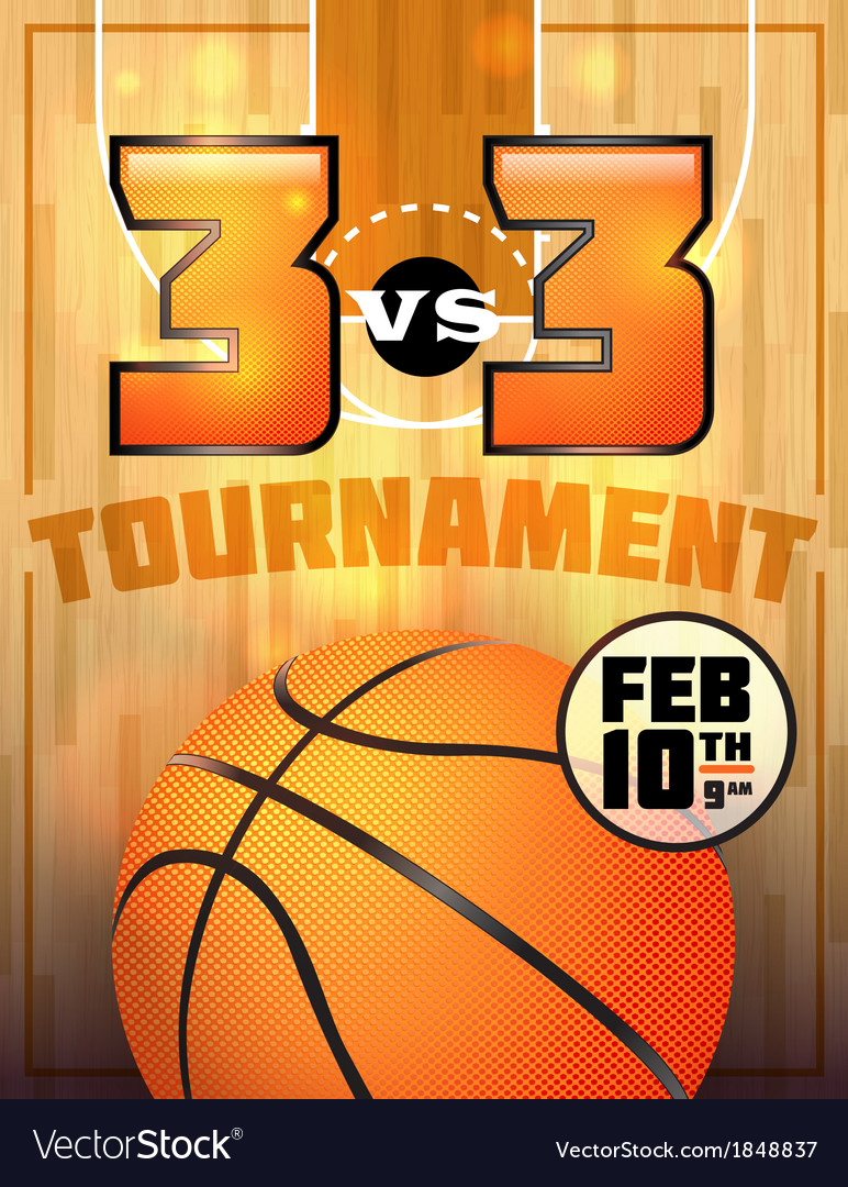 Basketball tournament flyer vector | Price: 1 Credit (USD $1)