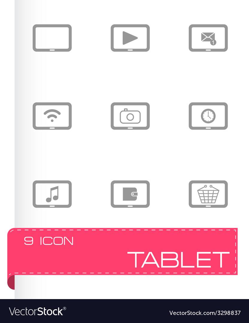 Black tablet icon set vector   Price: 1 Credit (USD $1)