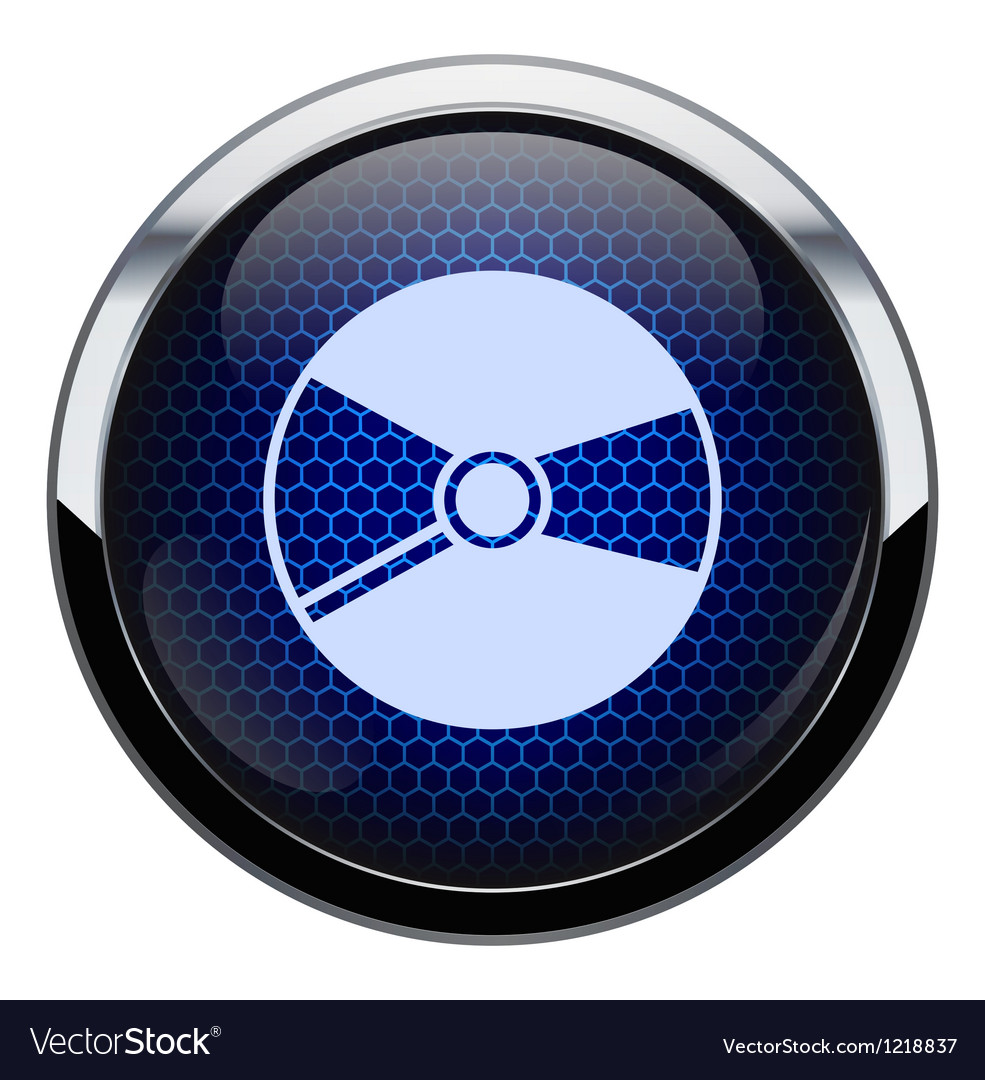 Blue honeycomb cd icon vector | Price: 1 Credit (USD $1)