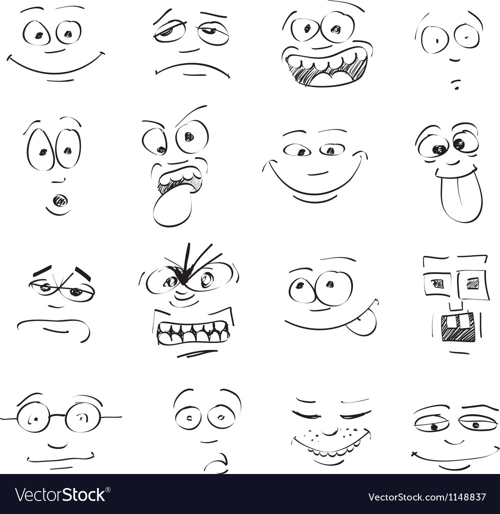 Emo faces vector | Price: 1 Credit (USD $1)