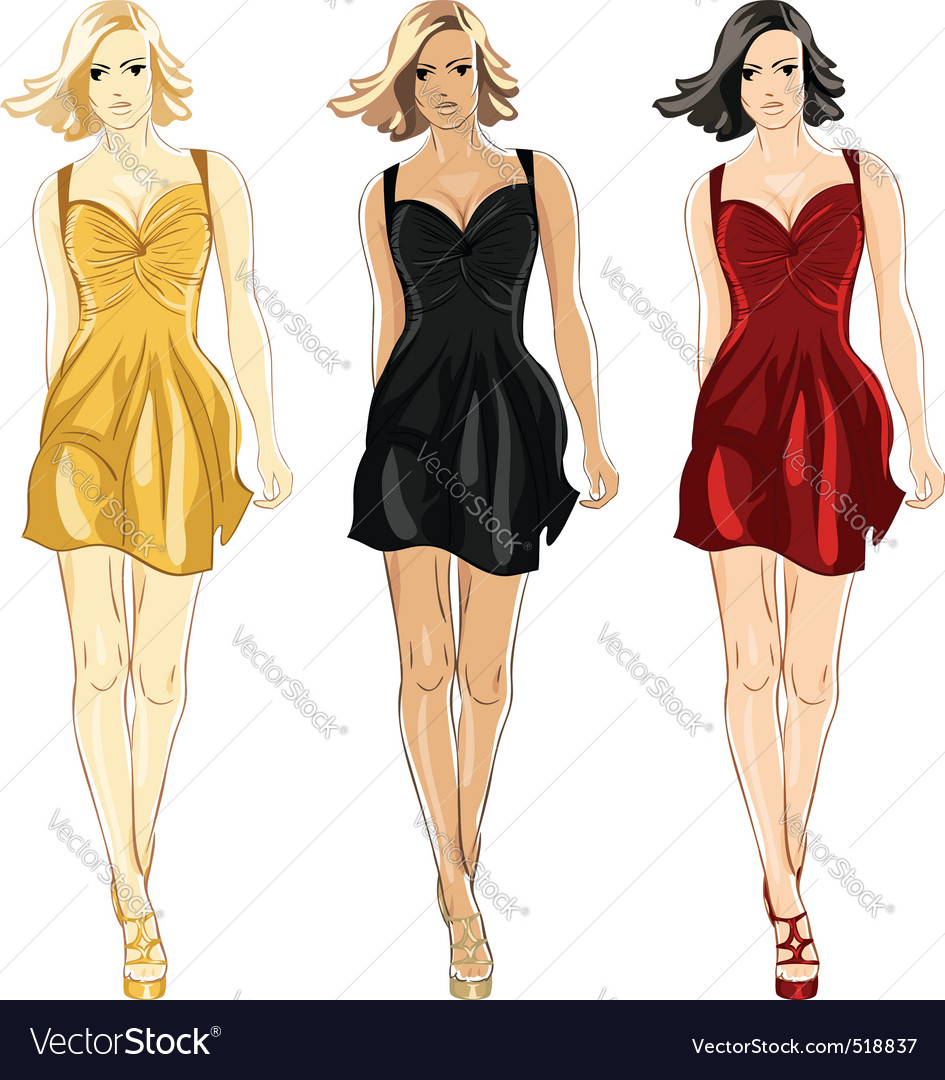 Fashion divas vector | Price: 3 Credit (USD $3)