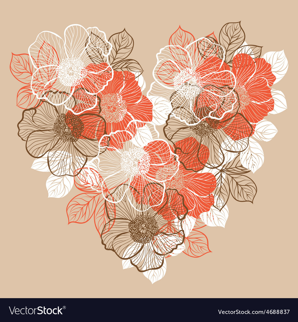 Floral background with flowers of peony vector | Price: 1 Credit (USD $1)