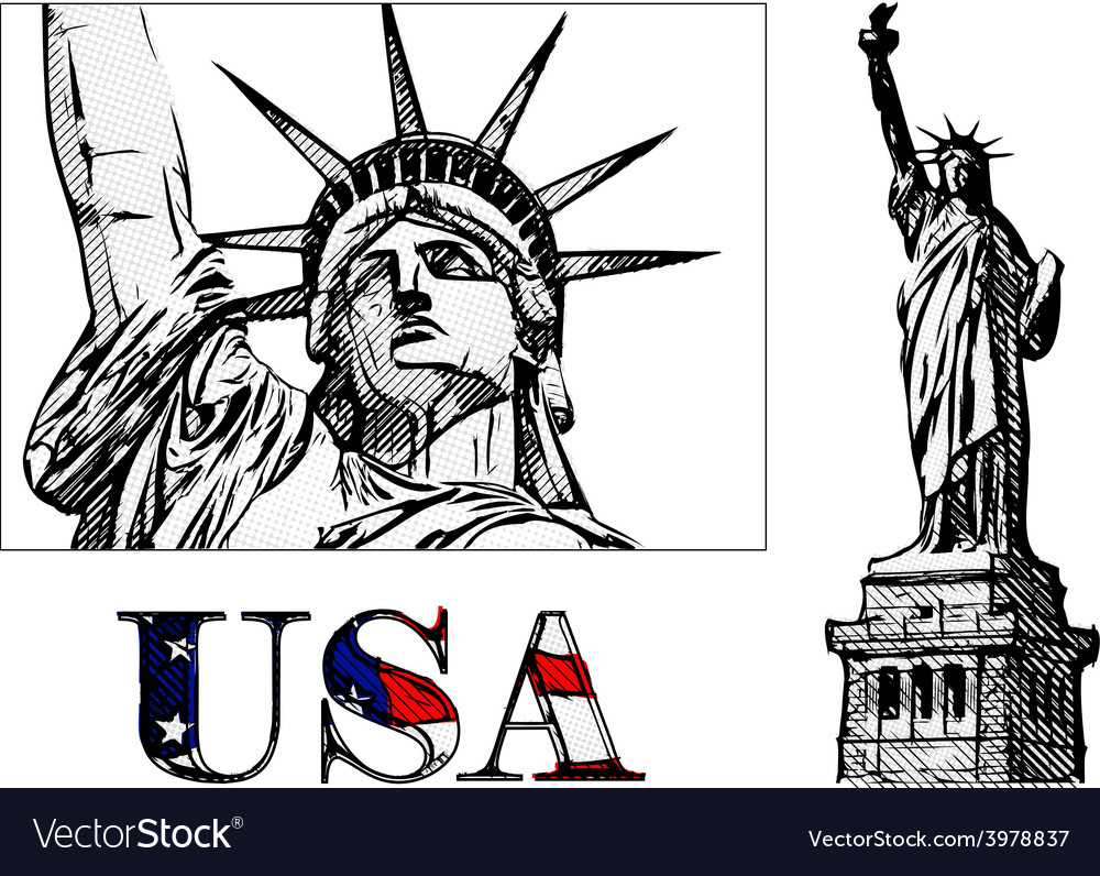 Freedom statue vector | Price: 1 Credit (USD $1)
