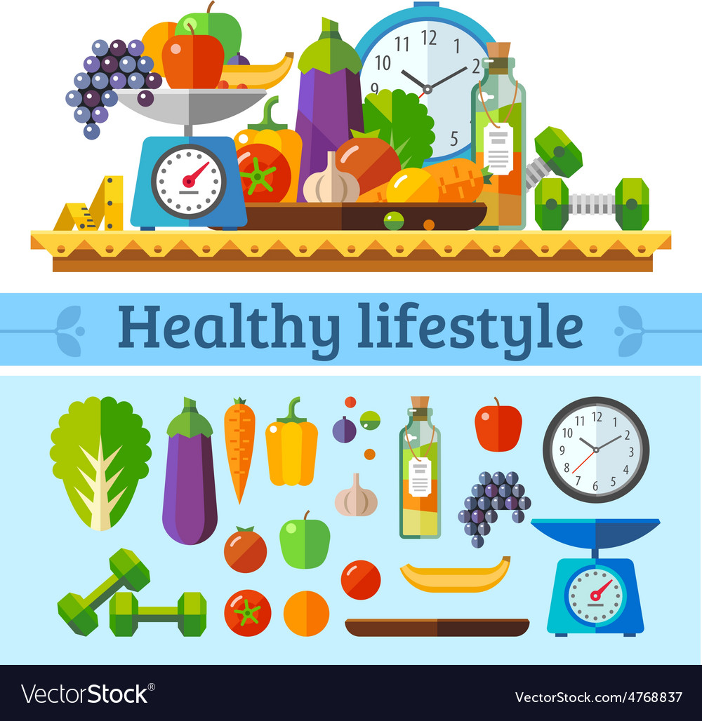 Healthy lifestyle vector | Price: 3 Credit (USD $3)