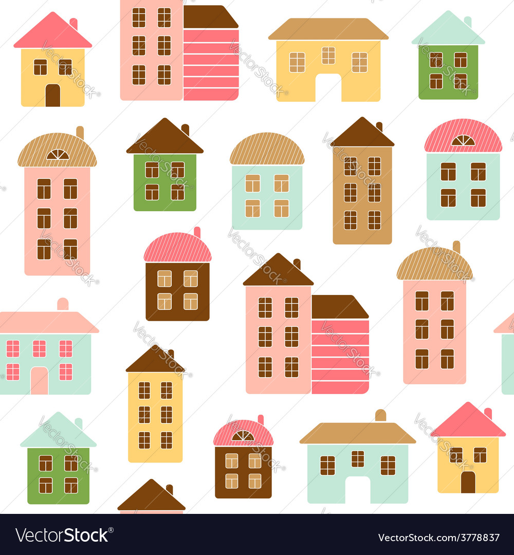 Home seamless pattern vector | Price: 1 Credit (USD $1)