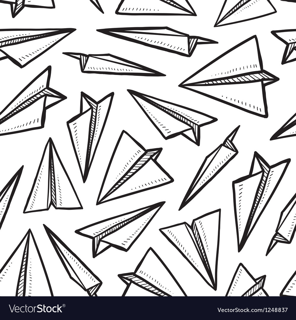Paper planes pattern vector | Price: 1 Credit (USD $1)