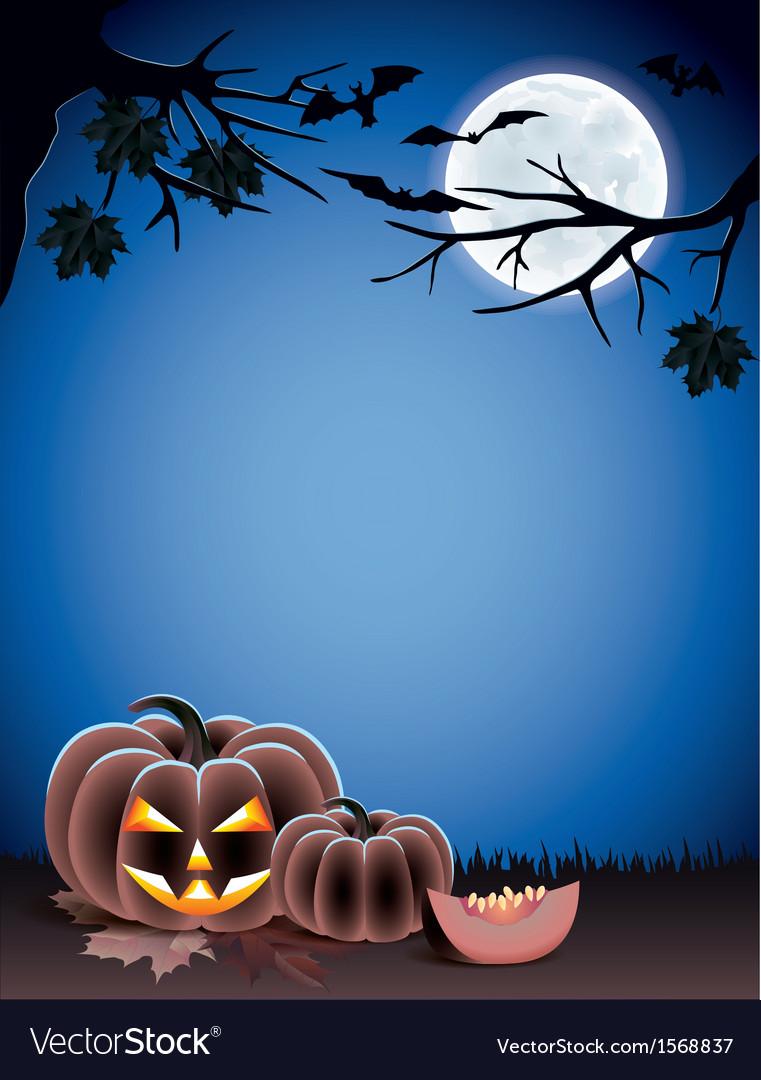 Pumpkin night moon halloween vector   Price: 1 Credit (USD $1)