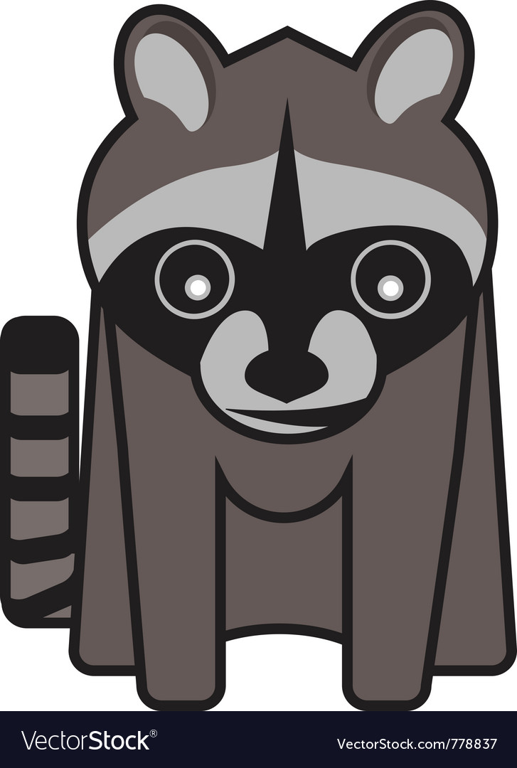 Raucus raccoon vector | Price: 1 Credit (USD $1)