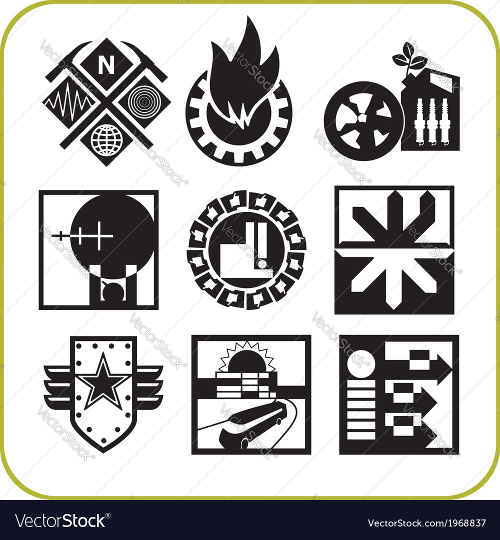 Urban services - set of icons vector | Price: 1 Credit (USD $1)