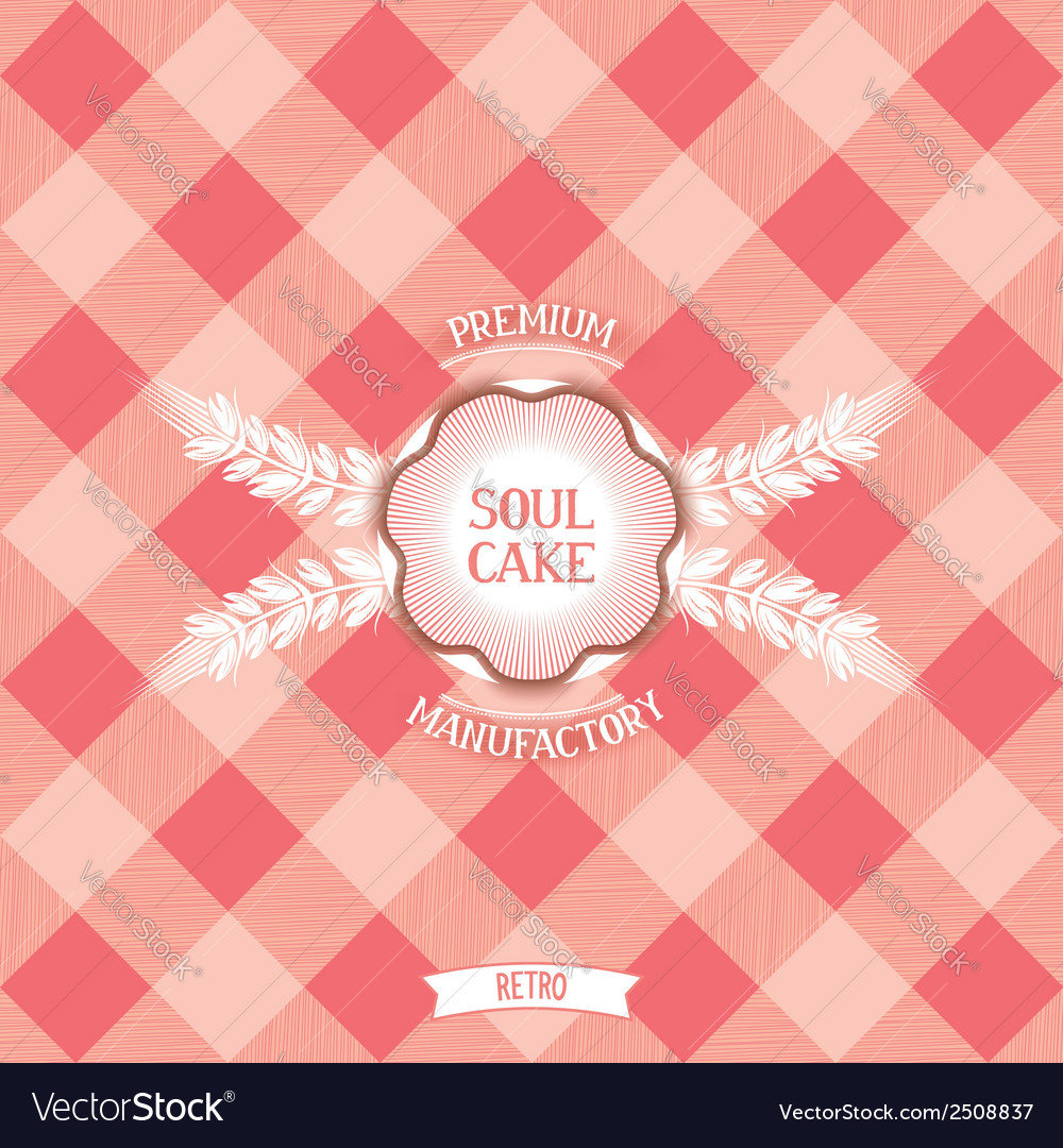 Vintage design for confectionery vector | Price: 1 Credit (USD $1)