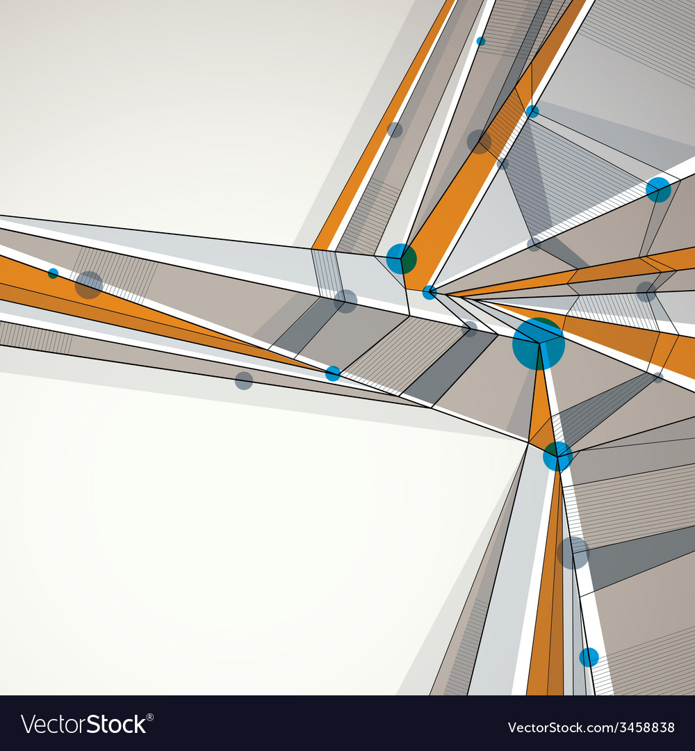 Abstract geometric background techno style vector | Price: 1 Credit (USD $1)