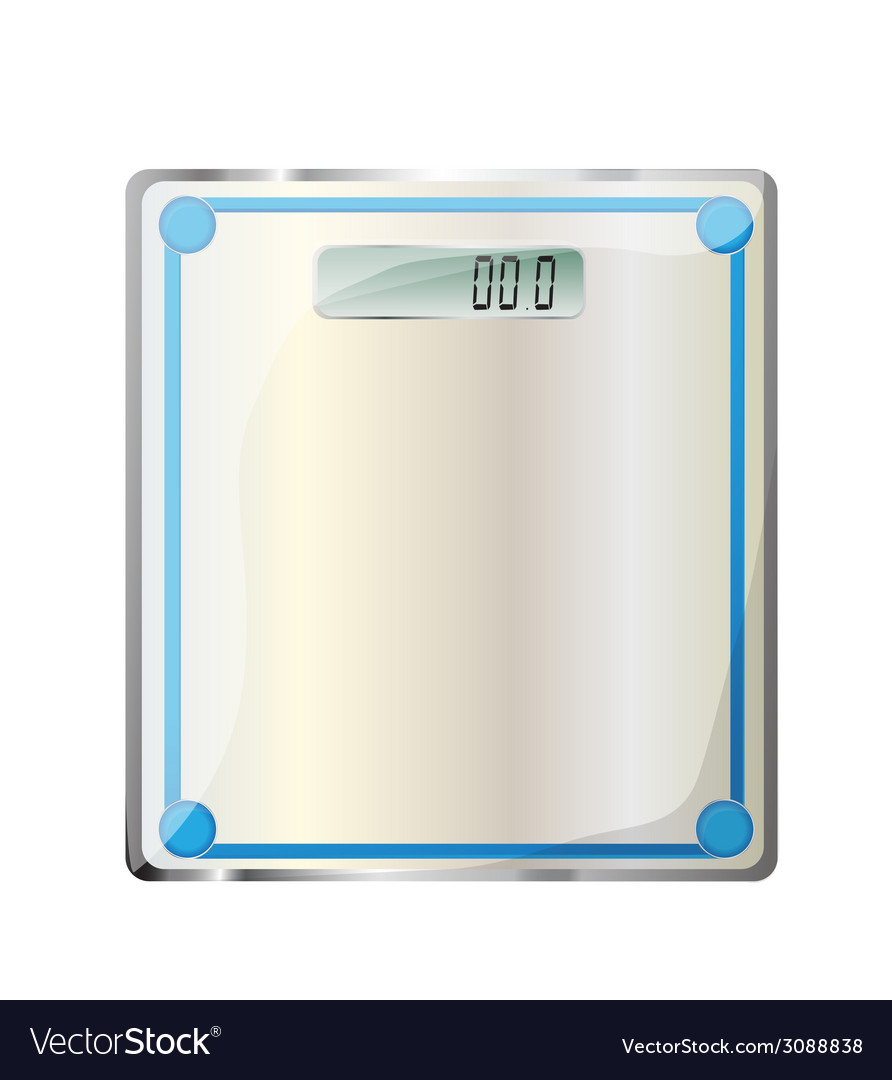 Bathroom digital scale vector | Price: 1 Credit (USD $1)