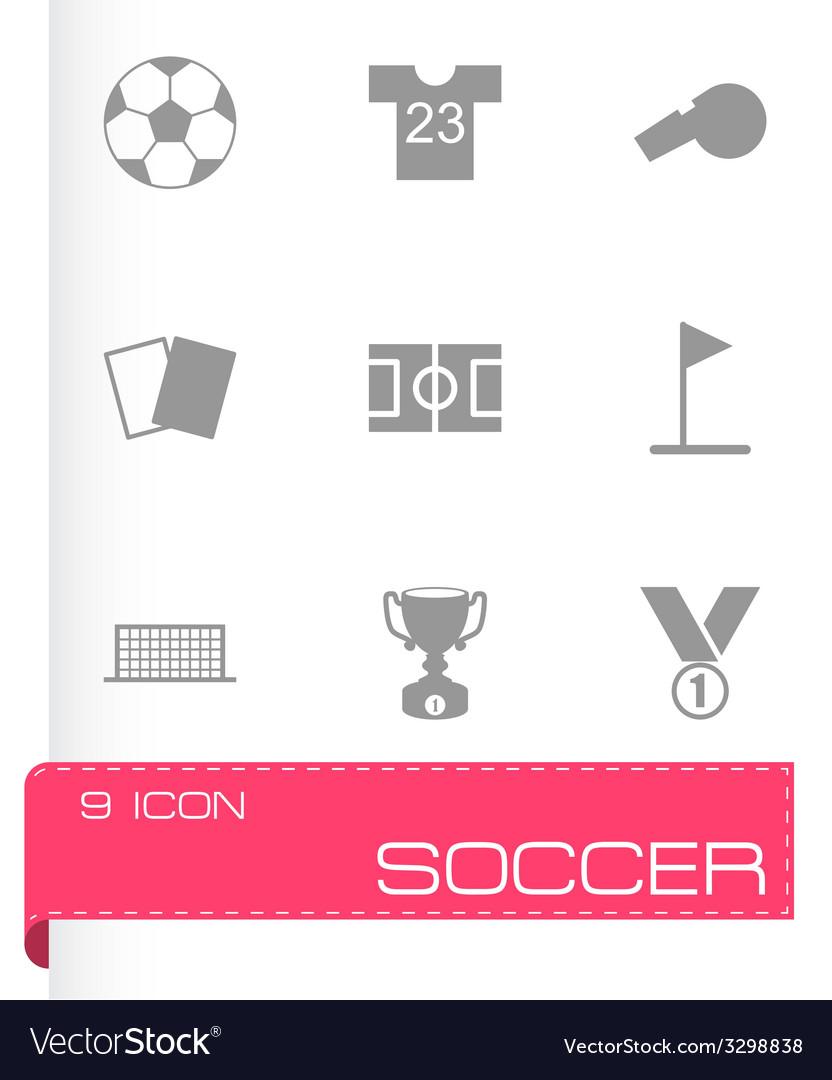 Black soccer icon set vector | Price: 1 Credit (USD $1)