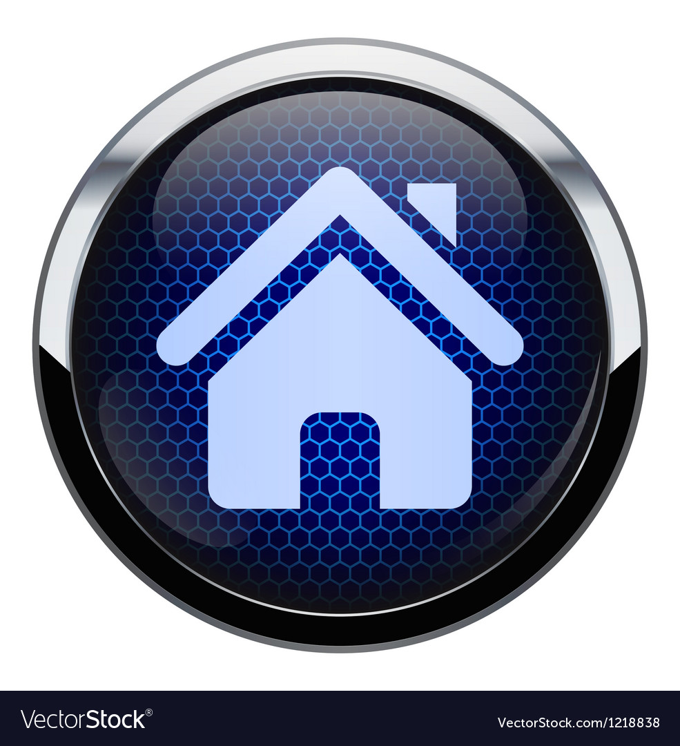 Blue honeycomb home icon vector | Price: 1 Credit (USD $1)