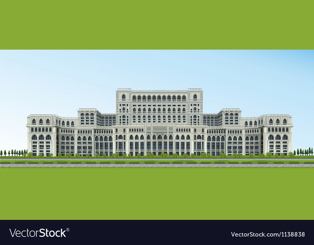 Ceausescu palace bucharest romania vector | Price: 1 Credit (USD $1)