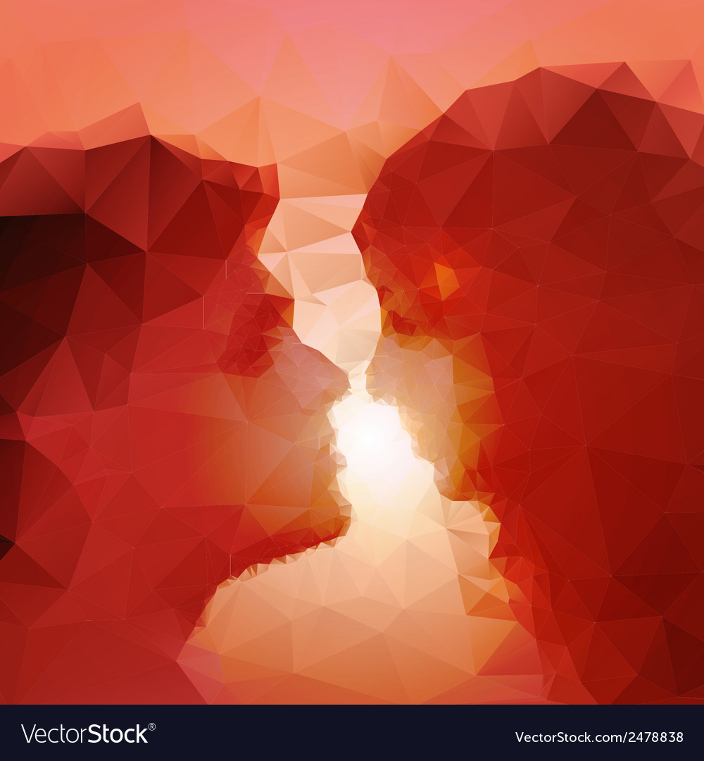 Loving couple kissing at sunset beautiful vector | Price: 1 Credit (USD $1)