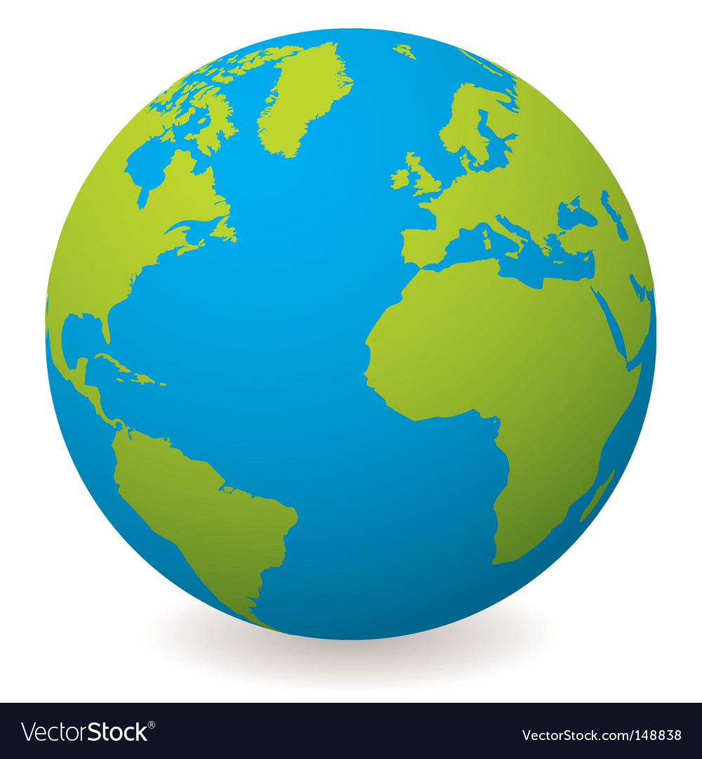 Natural earth globe vector | Price: 1 Credit (USD $1)