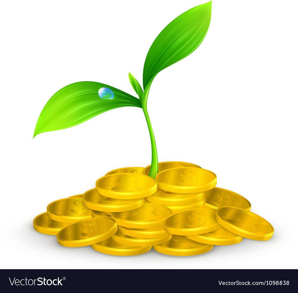 Plant and coins 10eps vector | Price: 1 Credit (USD $1)