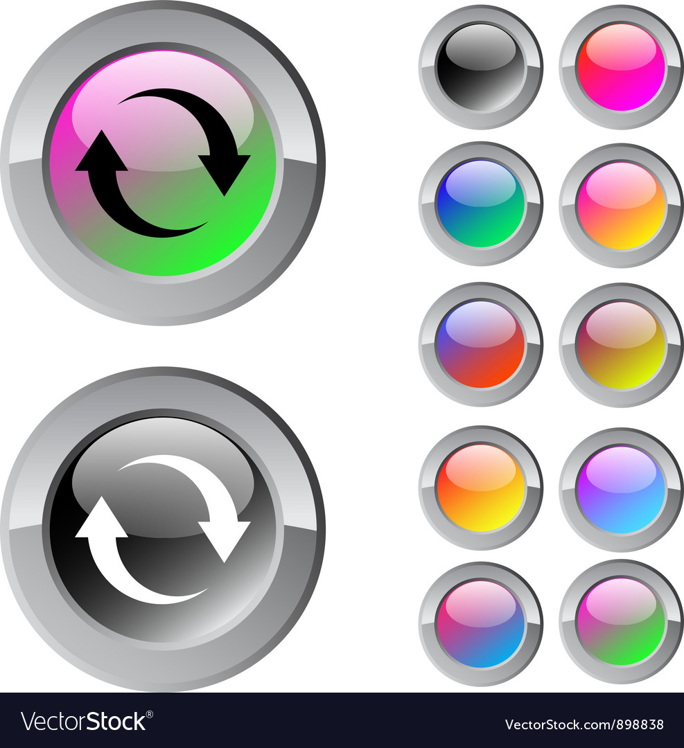Refresh multicolor round button vector | Price: 1 Credit (USD $1)