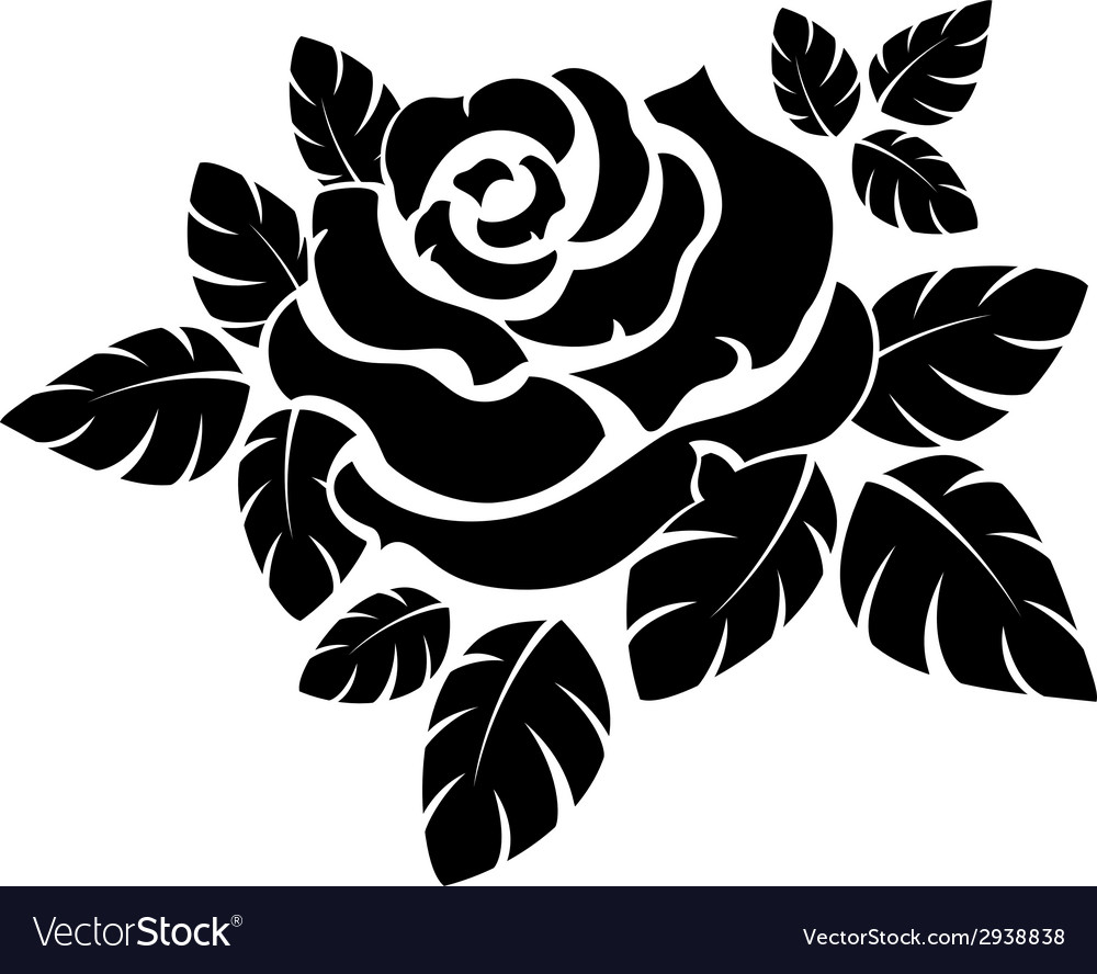 Rose silhouette vector