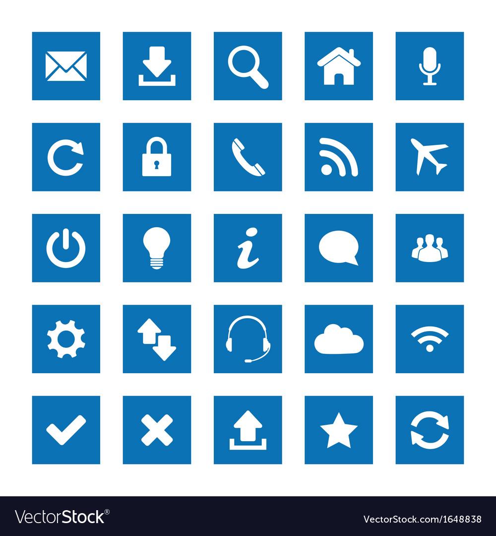 Square web icons vector | Price: 1 Credit (USD $1)