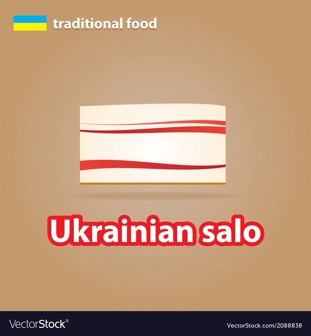 Ukrainian salo vector | Price: 1 Credit (USD $1)